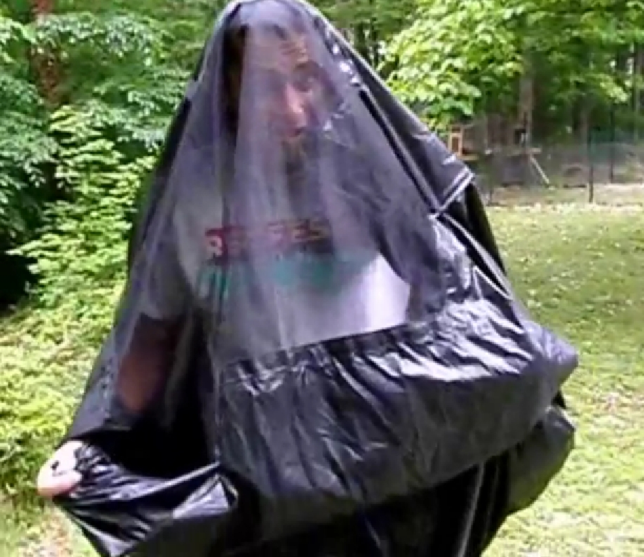 Medium image of     mmg bivy hammock worn as garment