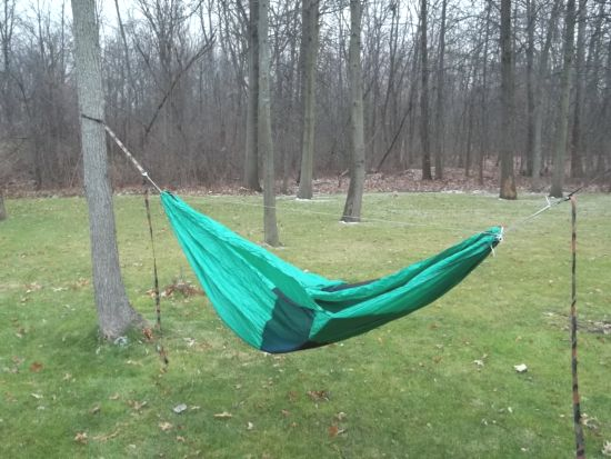 double layer hammock  u2013 i wanted to try it this mode first as winter hanging is a possibility i have considered for the future  i placed it bug   down and     bivy hammock first test   outdoortrailgear gear review      rh   outdoortrailgear
