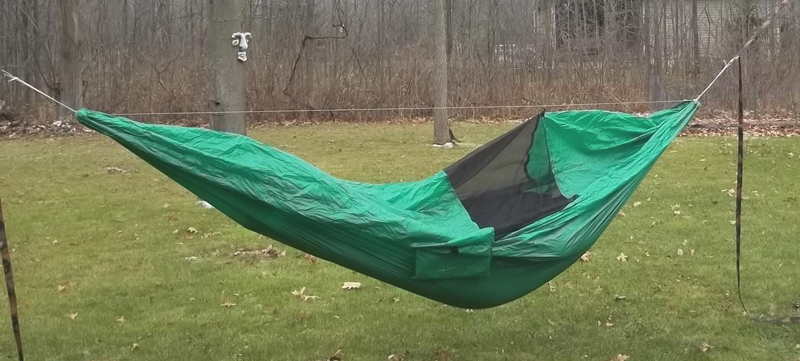 bug   bivy  u2013 this was the test i really wanted to do as it would determine whether i would be able to use this for backpacking  i flipped the hammock over     bivy hammock first test   outdoortrailgear gear review      rh   outdoortrailgear