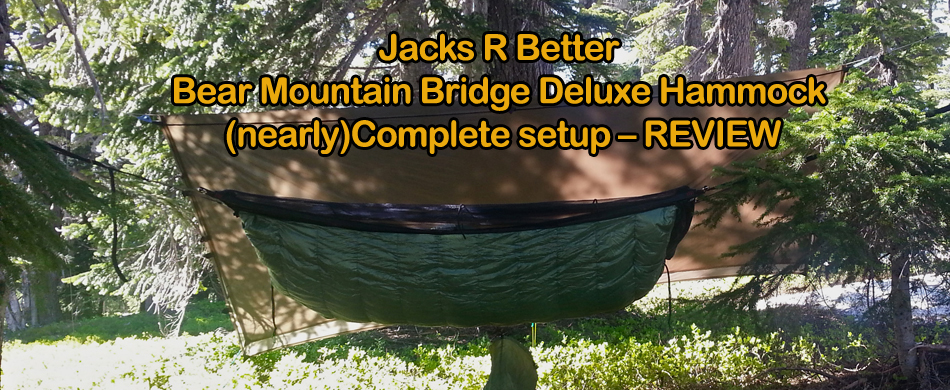Medium image of jacks r better bear mountain bridge deluxe hammock  nearly  plete setup  u2013 review