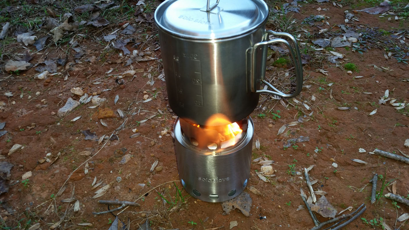stove lite. once the water boiled i let solo stove lite burn any sticks that were left \u0026 cool down. in a short time was able to pick up
